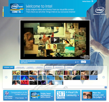 Intel's YouTube page