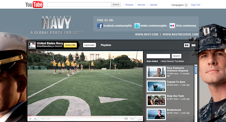 Navy YouTube Page