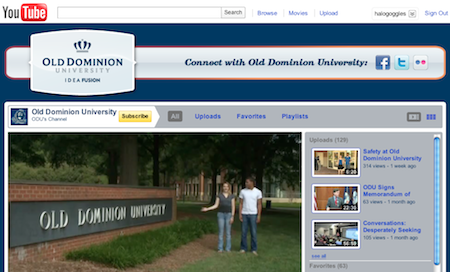 Old Dominion University YouTube page
