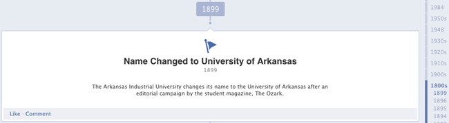 University of Arkansas Milestone example