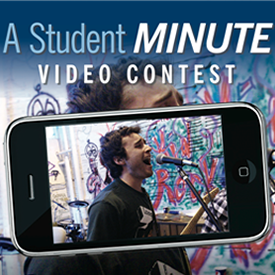 "Connecticut College ""A Student Minute"" poster (cropped)"
