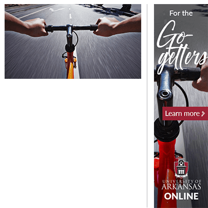 "Stock Photography and University of Arkansas ""Go-getters"" Ad"