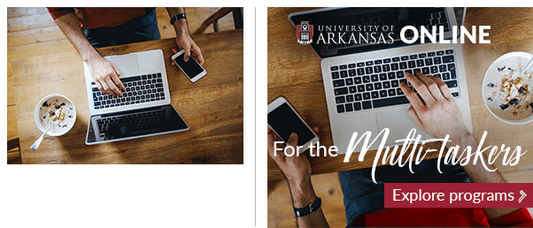 "Stock Photography and University of Arkansas ""Multi-Taskers"" Ad"