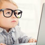Child on Computer in Online Focus Groups