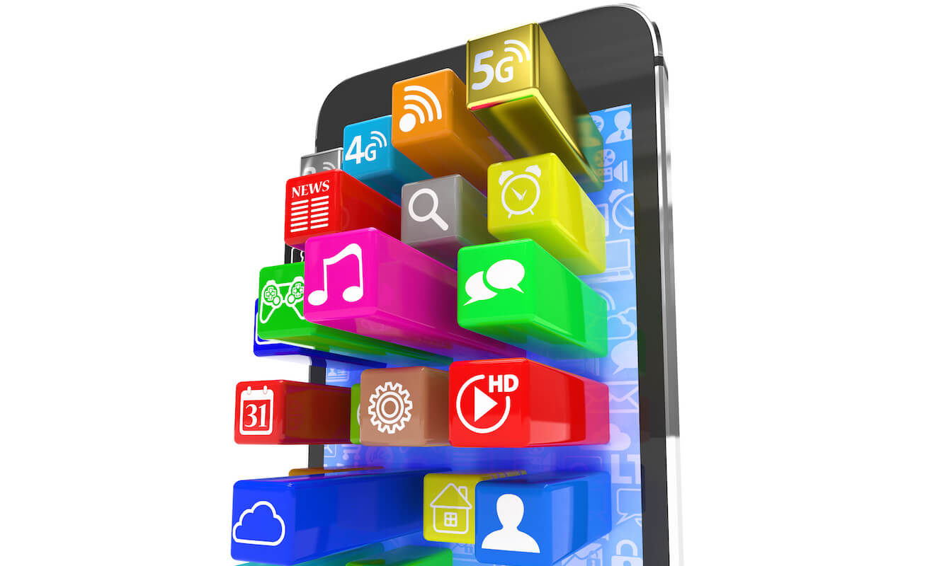 smart phone and popular apps