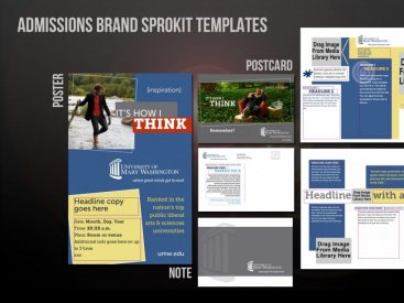 University of Mary Washington Brand Sprokit Templates
