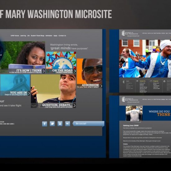 University of Mary Washington Microsite